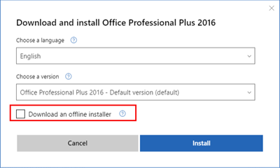 How to download Office 365 for offline install